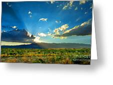 New Mexico Desert Greeting Card by Betty LaRue