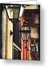 New Orleans Gas Lamps Greeting Card by Jarrod Erbe