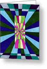 New Perspectives II Greeting Card by Lesa Weller