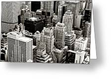 New York City From Above Greeting Card by Vivienne Gucwa