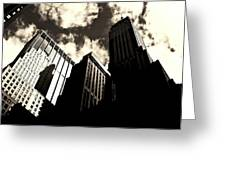New York City Skyscrapers Greeting Card by Vivienne Gucwa