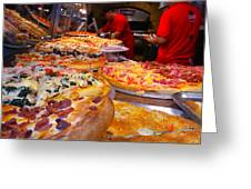 New York Pizza Greeting Card by Steve Zimic