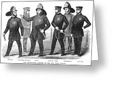 New York Policemen, 1854 Greeting Card by Granger