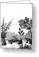 New York: Saw Mill, 1792 Greeting Card by Granger