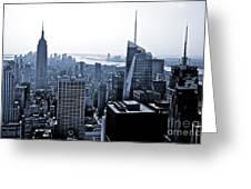 New York Skyline Greeting Card by Thomas Splietker