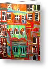 New York Tenement 2 Greeting Card by Michael Litvack