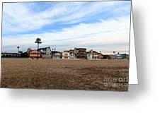 Newport Beach Oceanfront Houses Greeting Card by Paul Velgos