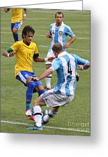 Neymar Doing His Thing IIi Greeting Card by Lee Dos Santos