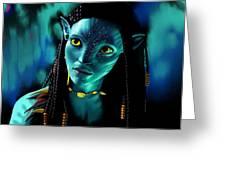 Neytiri Greeting Card by Laura Steelman