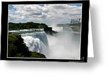 Niagara Falls American And Canadian Horseshoe Falls Greeting Card by Rose Santuci-Sofranko