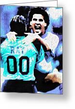 Nicolas Nixo Soccer Greeting Card by Nicolas Nixo