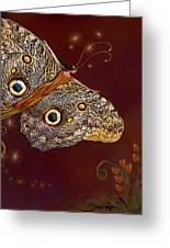 Night Butterfly  Greeting Card by Thanh Thuy Nguyen