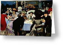 Night Restaurant Greeting Card by MG Slepyan