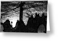 Night Watch Greeting Card by Ana Julia Fishman
