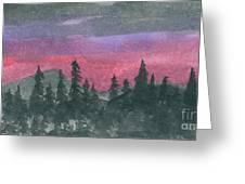 Nightfall Greeting Card by R Kyllo