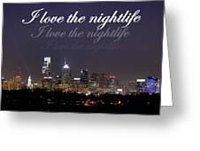 Nightlife Greeting Card by Deborah  Crew-Johnson