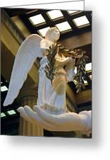 Nike Goddess Of Victory Greeting Card by Linda Phelps