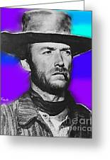 Nixo Clint Eastwood 1 Greeting Card by Nicholas Nixo