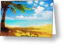 Nixo Landscape Beach Greeting Card by Nicholas Nixo