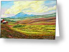 Nixon's Golden Light Converging Upon The Farm Greeting Card by Lee Nixon