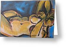 Nocturne - Nudes Gallery Greeting Card by Carmen Tyrrell