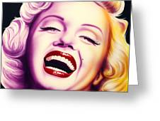 Norma Jean Greeting Card by Bruce Carter