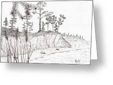 north shore memory... - sketch Greeting Card by Robert Meszaros