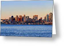 Northwest Jewel - Seattle Skyline Cityscape Greeting Card by James Heckt