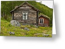 Norwegian Timber House Greeting Card by Heiko Koehrer-Wagner