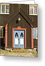 Norwegian Wooden Facade Greeting Card by Heiko Koehrer-Wagner