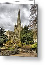 Norwich Cathedral England Greeting Card by Darren Burroughs