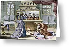 Nostradamus's Magic Mirror Greeting Card by Sheila Terry