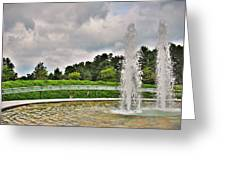 Not Forgotten - Garden Of Reflection Greeting Card by Angie Tirado