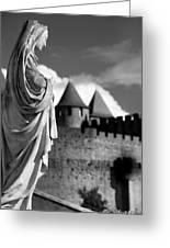 Notre Dame Carcassonne Greeting Card by Robert Lacy