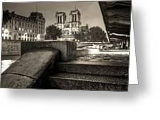 Notre-dame De Paris Greeting Card by Matthieu Godon