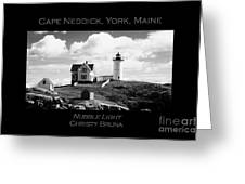 Nubble Light Greeting Card by Christy Bruna