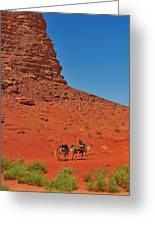 Nubian Camel Rider Greeting Card by Tony Beck