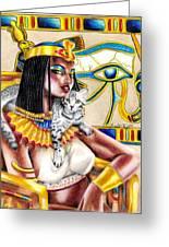 Nubian Queen Greeting Card by Scarlett Royal