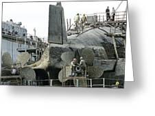 Nuclear Submarine Maintenance Greeting Card by Ria Novosti