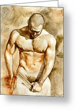 Nude 43 Greeting Card by Chris  Lopez