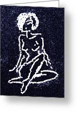 Nude Female Greeting Card by Natalya A