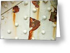 Nuts Bolts And Rust Greeting Card by Richard Mansfield
