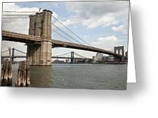 Ny Bridges 1 Greeting Card by Art Ferrier