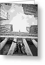 Nyc Looking Up Bw6 Greeting Card by Scott Kelley
