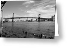 Nyc Manhattan Bridge Greeting Card by Mike McGlothlen