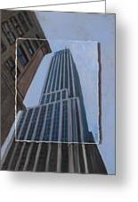 Nyc Severe Empire Layered Greeting Card by Anita Burgermeister