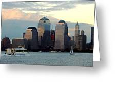 Nyc Skyline Greeting Card by Judee Stalmack