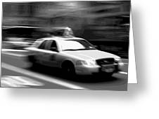 Nyc Taxi Bw16 Greeting Card by Scott Kelley