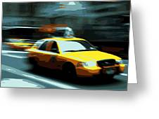 Nyc Taxi Color 16 Greeting Card by Scott Kelley