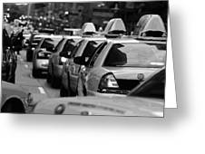 Nyc Traffic Bw16 Greeting Card by Scott Kelley